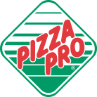 Pizza Pro White, Green and Red Logo